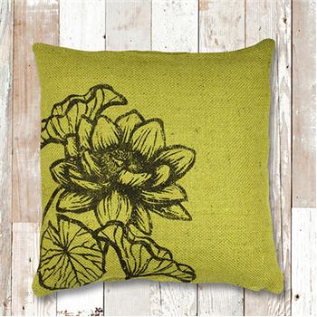 Karma | Global Color Jute Throw Pillow Green