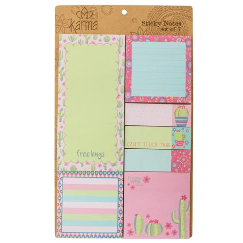 STICKY NOTE SET CACTUS (F18)