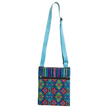 CROSSBODY ZIPPER POUCH  SPANISH BLUE (S17)
