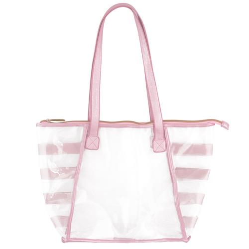 CLEAR TOTE PINK  (F17)