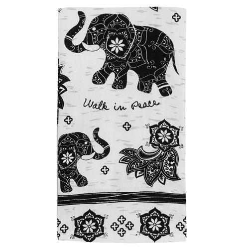 BOHO TEA TOWEL ELEPHANT (S17)