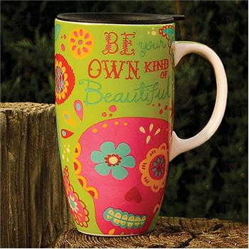 Karma  |  Ceramic Travel Mug Rabbit Sugar Skull
