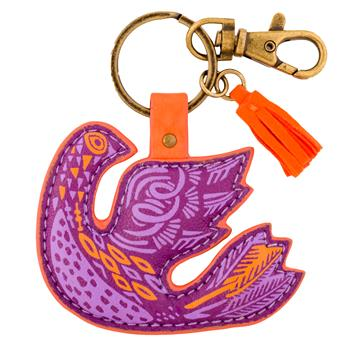 MODERN FOLKLORIC KEY CHAIN BIRD (F15)