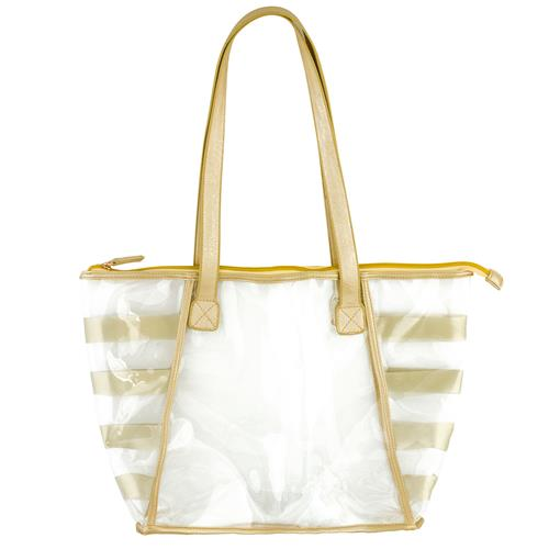CLEAR TOTE GOLD (F17)