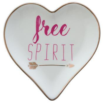 HEART TRINKET TRAY  ARROW/FREE (F17)