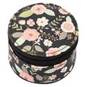 ROUND TRAVEL CASE CHARCOAL FLOWER (F18)