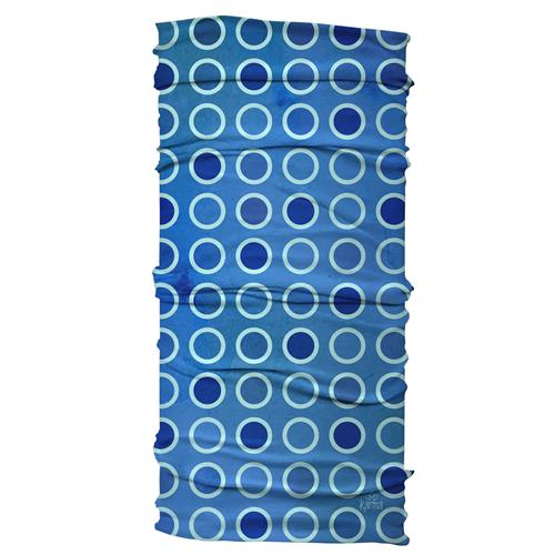 WIDE HEADBAND  BLUE CIRCLES (S18)