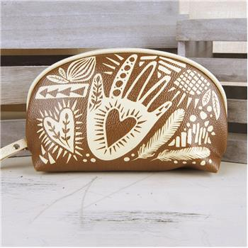 MODERN FOLKLORIC COSMETIC BAG HAND (S16)