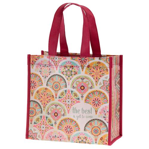 RECYCLED MEDIUM GIFT BAG  PINK MEDALLION (F19)