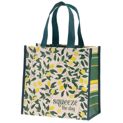 RECYCLED MEDIUM GIFT BAG  LEMON TREE (F19)
