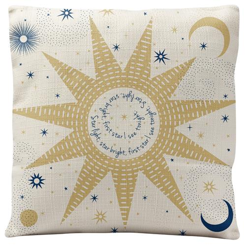 HOLIDAY SQUARE PILLOW  CELESTIAL (H19)