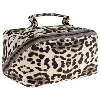 ZIP COSMETIC BAG LEOPARD