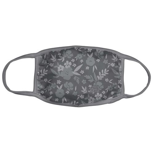COTTON/POLY FACE MASK  DARK GRAY FLORAL (F20)