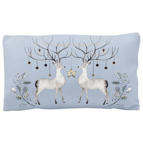 HOLIDAY LUMBAR PILLOW  DEER (H19)