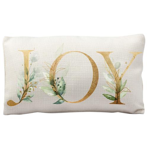 HOLIDAY LUMBAR PILLOW  JOY (H19)