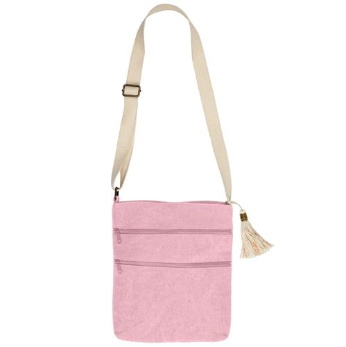 WASHED JUTE CROSSBODY  PINK (S19)