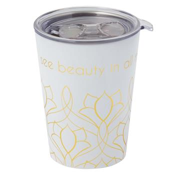 DOUBLE WALLED SHORT COFFEE TUMBLER  ART DECO (F19)