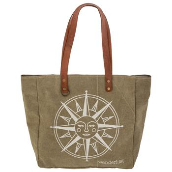 STONE WASHED CANVAS TOTE WANDERLUST
