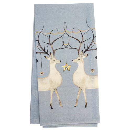 HOLIDAY TEA TOWEL DEER (H19)
