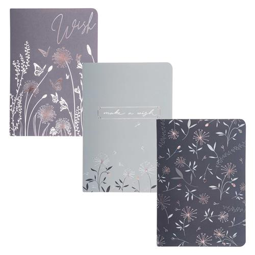 POCKET NOTEBOOKS SET OF 3  DANDELION (S20)