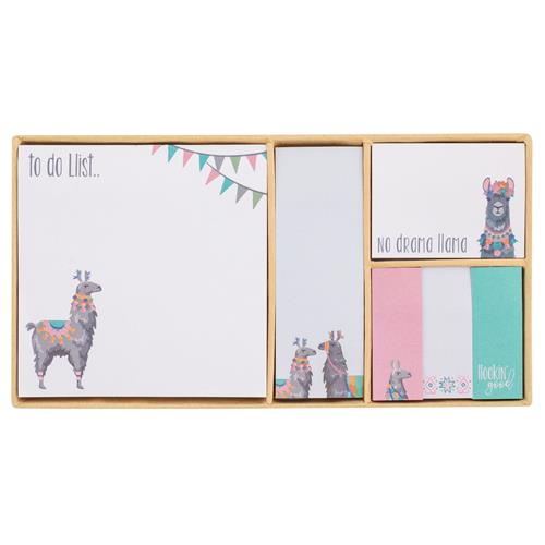 BOXED STICKY NOTE SET  LLAMA (S20)