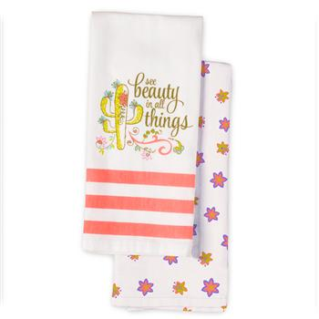FIESTA TEA TOWELS  CACTUS (S17)