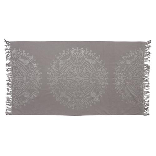 JACQUARD WEAVE BEACH TOWEL  CHARCOAL (S20)