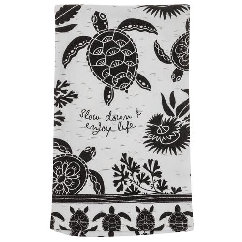 BOHO TEA TOWEL SEA TURTLE (F19)