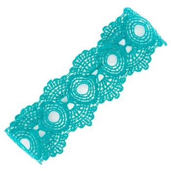 GLOBAL COLOR LACE HEADBAND CAROLINE TURQUOISE (S16)