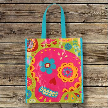 Karma | Large Reusable Shopping Tote Sugar Skull