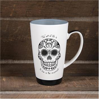 BLACK AND WHITE MUG SUGAR SKULL (S15)
