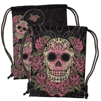 DRAWSTRING BACKPACK SUGAR SKULL (F15)