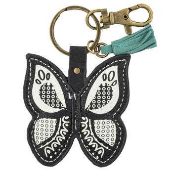 BLACK AND WHITE KEY CHAIN BUTTERFLY (F15)
