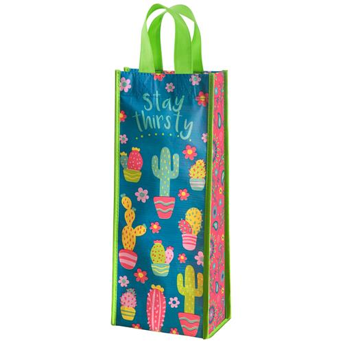 RECYCLED WINE BAG  CACTUS (S18)