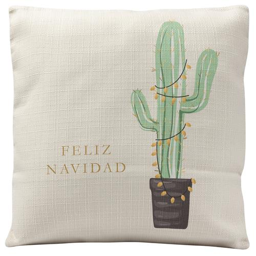 HOLIDAY SQUARE PILLOW  CACTUS (H19)