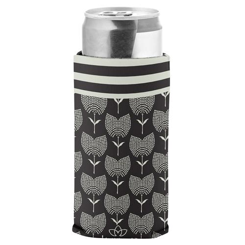 SLIM CAN COOLER  BLACK TULIP (S20)