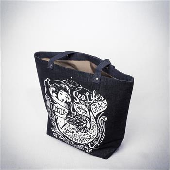 NAUTICAL JUTE TOTE MERMAID (F16)