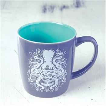 NAUTICAL CHARCOAL MUG OCTOPUS (F16)