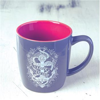 NAUTICAL CHARCOAL MUG ANCHOR (F16)