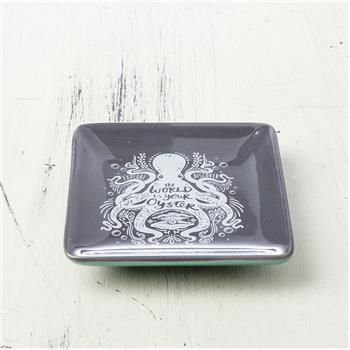 NAUTICAL SQUARE RING BOWL OCTOPUS (F16)