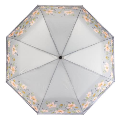 TRAVEL UMBRELLA  GRAY FLORAL (S20)