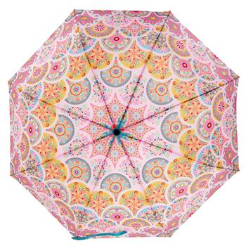 TRAVEL UMBRELLAS  PINK MEDALLION (F19)