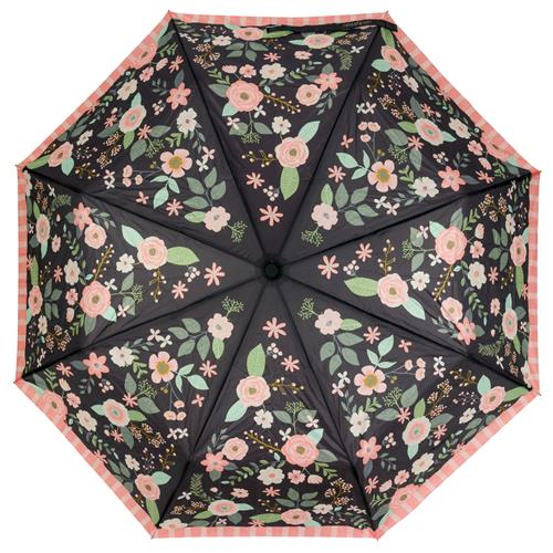 TRAVEL UMBRELLAS  CHARCOAL FLOWERS (F18)