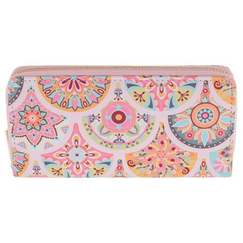 LARGE WALLET PINK MEDALLION (S19)