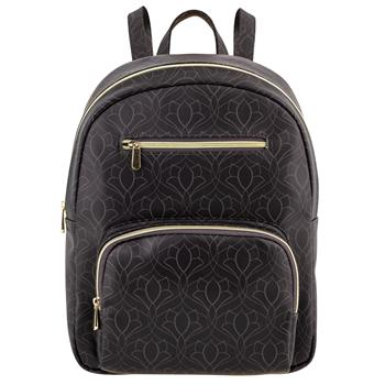 ZIPPERED BACKPACK BLACK ART DECO