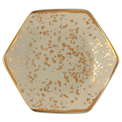 MEDIUM HONEYCOMB TRINKET TRAY CREAM (F19)