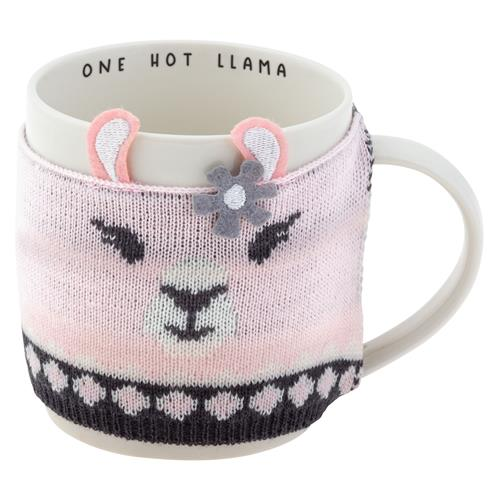 MUG WITH COZY SWEATER  ONE HOT LLAMA (OCT19)