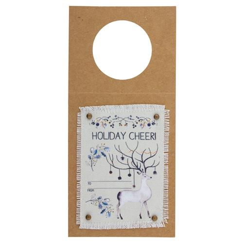 HOLIDAY WINE TAG  DEER (H19)