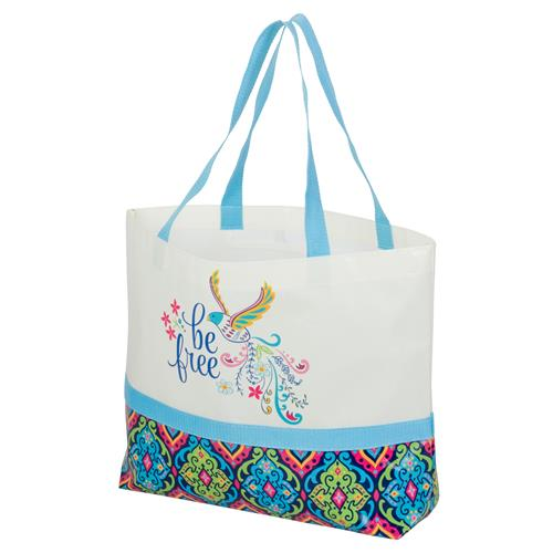 SHOPPING TOTE  BIRD (S17)