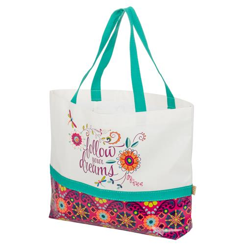 SHOPPING TOTE  FLOWER (S17)